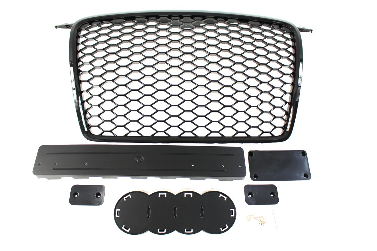 GRILL AUDI A3 8P RS-STYLE BRIGHT BLACK (05-09)
